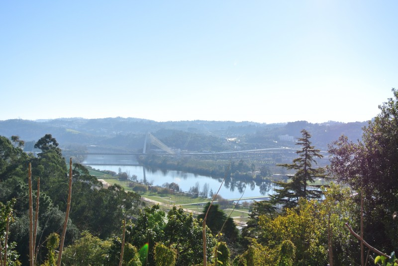 the view from the university to the river Mondego portugal travel