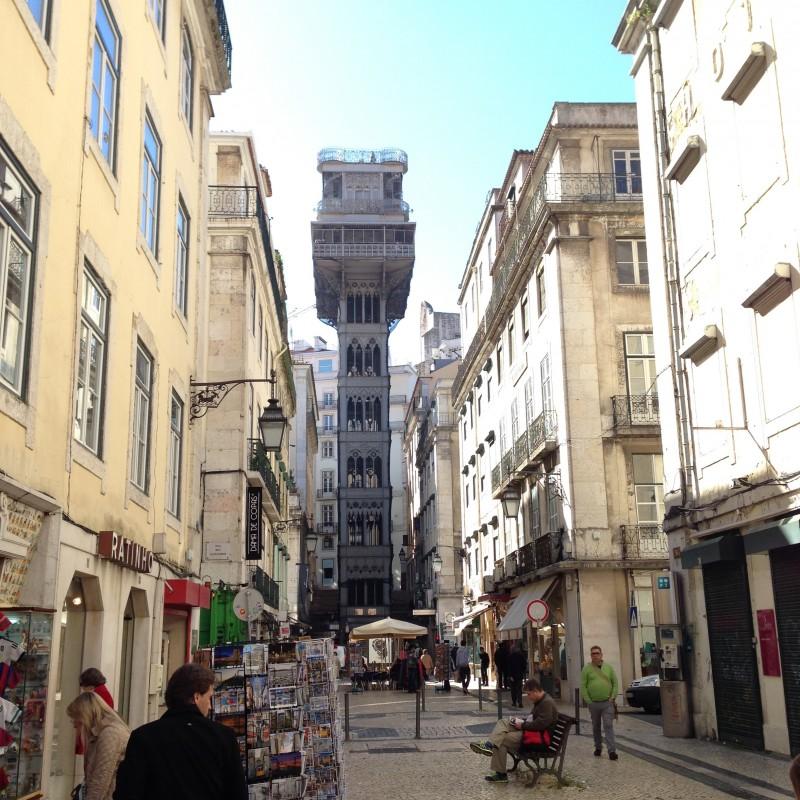 elevador de santa justa portugal travel